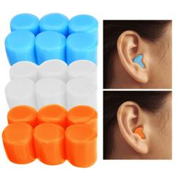 1 Set 6Pcs Soft Silicone Earplugs Swim Flexible Ear Plugs fo