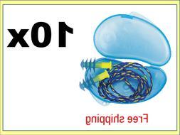 10 Pair Fusion Ear Plugs Howard Leight Earplugs Reusable wca