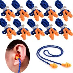 10 Pcs Soft Silicone Ear Plug Reusable Hearing Protection Ea