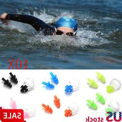 10 set For Kids Adults Diving Swimming Waterproof Ear Plugs