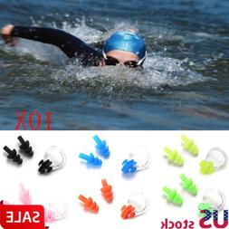 10 set For Kids Adults Diving Swimming Waterproof Ear Plugs