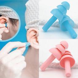 10Pcs Reusable Silicone anti-water Swimming Earplugs Ear Plu