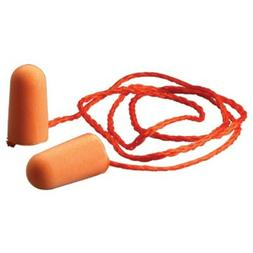 3M 1110 CORDED DISPOSABLE FOAM EAR PLUGS, NR29, INDIV PACKAG