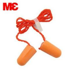 3M 1110 Corded Disposable Foam Ear Plugs  Individually Packa