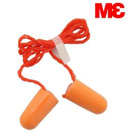 3M 1110 Corded Disposable Foam Earplug Noise Reduction Ear P