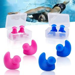2 Pairs Silicone Swimming Earplugs Waterproof Reusable Ear P