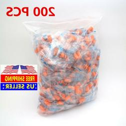 200x Ear Plugs Lot Bulk, soft Orange foam sleep travel noise