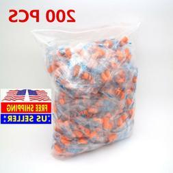 200 Ear Plugs Lot Bulk, soft Orange foam sleep travel noise
