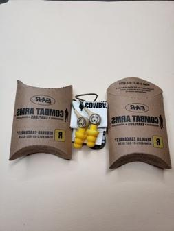 2X - Combat Arms Earplugs - Regular  Yellow - Free Shipping!
