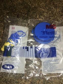 3M 340-4004 EAR Ultrafit Corded Earplugs, With Case. 100-Pai