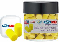 3M Classic Ear Plugs, Foam Earplugs For Noise Reduction And