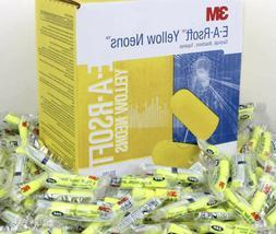 3M Ear Plugs E-A-Rsoft Noise Reduction 33dB Yellow Neon Foam