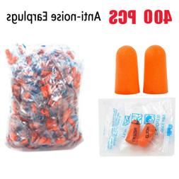 400PCS Ear Plugs Lot Bulk soft Orange foam sleep travel nois
