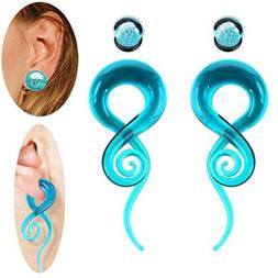 4pcs glass spiral tapers kits with jellyfish