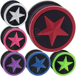 5/8 Inch gauges Ear Plugs Silicone Flesh Tunnels Double Flar