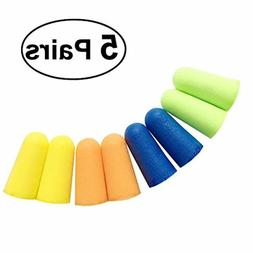 5 Pairs of Foam Soft Ear Plugs Sponge Earplug Ear Plug Keepe