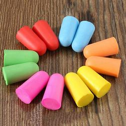 50Pairs Soft Foam Ear Plugs Tapered Travel Sleep Noise Preve