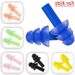 6 pack children swimming waterproof soft earplugs