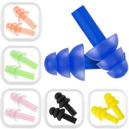 6 Pairs Silicone Swimming Sleeping Earplugs Ear Plugs Protec