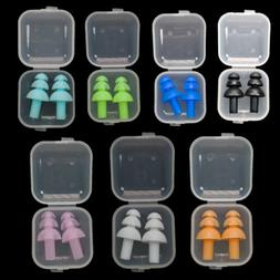 US STOCK Silicone Ear Plugs Ear Muffs Anti Noise Snore Divin