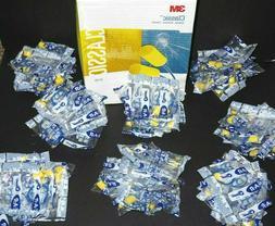 80 PAIRS 3M E-A-R yellow CLASSIC CORDED NRR 29 dB EARPLUGS /