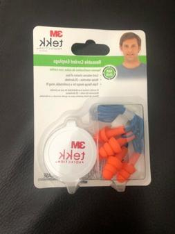 3M 90716-80025T Tekk Protection Reusable Corded Ear Plugs, 3