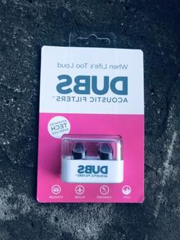 DUBS Acoustic Filters 12dB NOISE REDUCTION EAR PLUGS EARPLUG