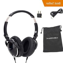 Active Noise Cancelling Headphones with Mic, MonoDeal Overhe
