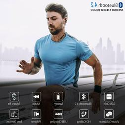 Wireless Bluetooth Earphones Noise Cancelling Ear Plugs Spor