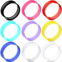 pair ultra thin skins tunnels silicone ear
