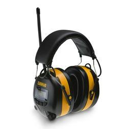 Digital AM FM Radio Tuning with LCD Display Hearing Protecti