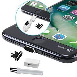 PortPlugs - Aluminum Dust Plug for iPhone 7, 8 Plus, X  - In
