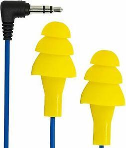 Plugfones Basic Earplug-Earbud Hybrid - Blue Cable/Yellow Pl
