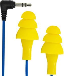Basic Earplug-Earbud Hybrid - Blue Cable/Yellow Plugs