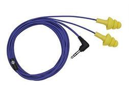 Plugfones Basic Earplug-Earbud Hybrid Blue Cable/Yellow Plug