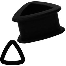 Black Color Triangle Silicone Tunnel Ear Plugs Gauges Sold a