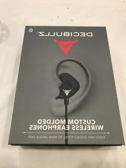 Decibullz Black Custom Molded Bluetooth Wireless Earphones