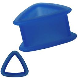 Blue Color Triangle Silicone Tunnel Ear Plugs Gauges Sold as