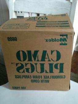 MOLDEX CAMOUFLAGE SOFT FOAM EAR PLUGS CORD NEW  SEALED BOX o