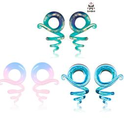Colorful Spring Design Ear Gauges and Ear Tunnels Body Jewel