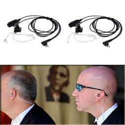2pcs Covert 2 Pin Acoustic Tube Earpiece Headset Mic for Mot