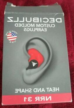 Decibullz Custom Miolded Earplugs Heat And Shape NRR 31
