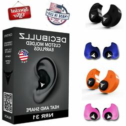Custom Molded Ear Plugs Comfortable Hearing Protection for S