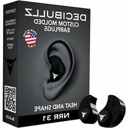 Decibullz Custom Molded Earplugs 31dB Highest NRR Comfortabl