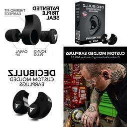 Decibullz Custom Molded Earplugs, 31dB Highest NRR, Comforta
