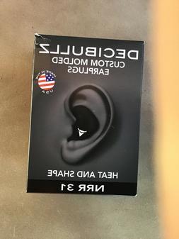 Decibullz Custom Molded Earplugs 31dB Highest NRR Comfortabl