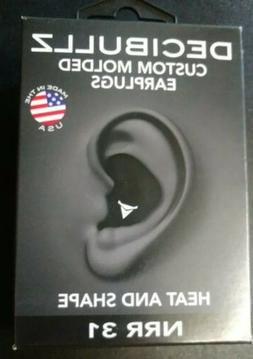 Decibullz Custom Molded Earplugs NRR 31 - BlackFACTORY SEALE
