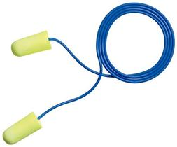 3M E-A-Rsoft Yellow Neons Corded Earplugs, Hearing Conservat