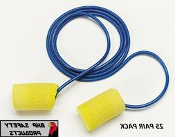 3M E-A-R CLASSIC DISPOSABLE FOAM EAR PLUGS 311-1101 CORDED Y