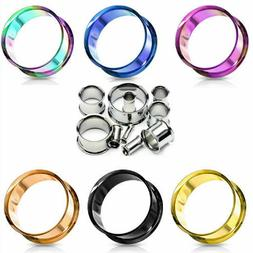 EAR GAUGES EAR FLESH TUNNELS STAINLESS STEEL EYELETS-EAR PLU